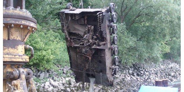 Panzer aus 2. WK aus Donau gefischt