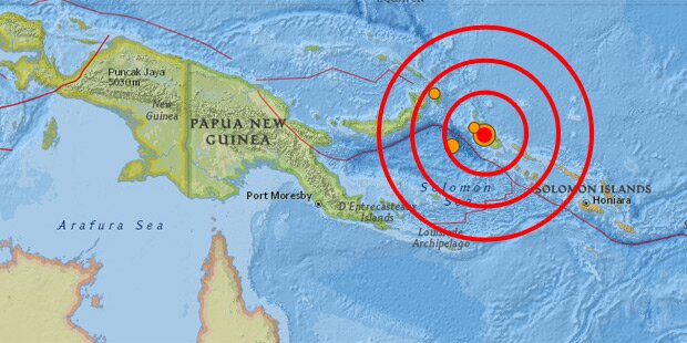 Starkes Erdbeben im Pazifik: Tsunami-Warnung