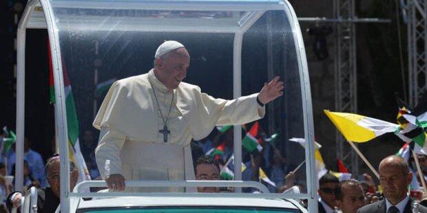 Papst Franziskus für Zwei-Staaten-Lösung