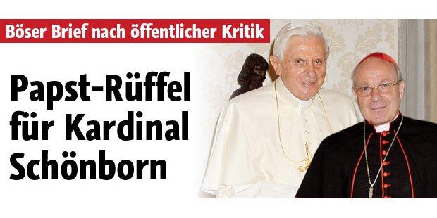 Papst-Rüffel für Schönborn