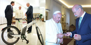 Papst Franziskus fährt jetzt E-Bike