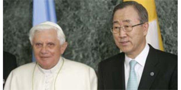 Papst spricht vor UN-Vollversammlung über Frieden