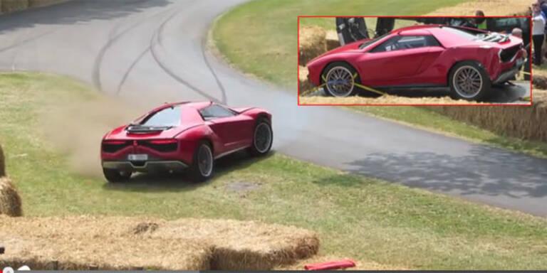 Video: Fahrer crasht sündteures Einzelstück