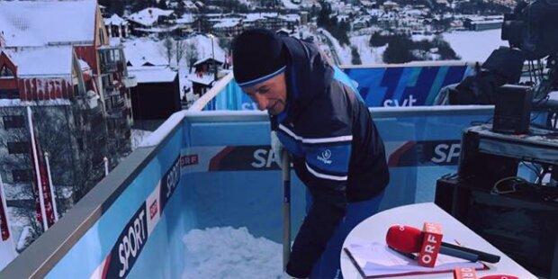 Chaos-WM: Sogar Pariasek schaufelte Schnee