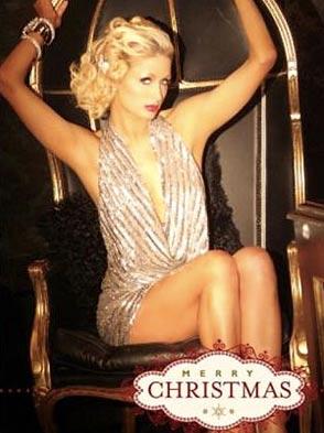 Paris Hilton: Ihre scharfe Weihnachtskarte