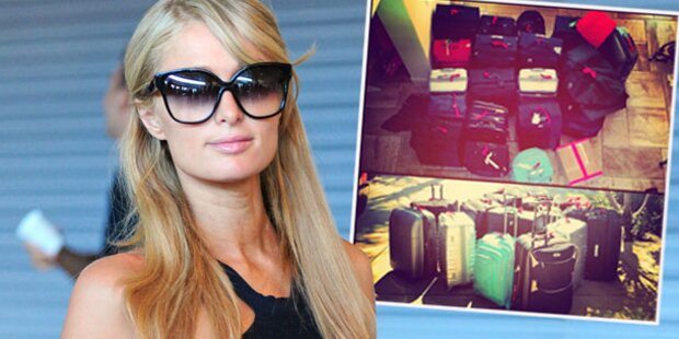 Paris Hilton mit 19 Koffern nach Ibiza