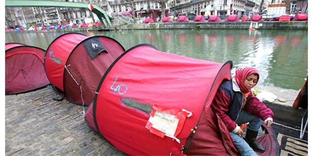 Frankreich hilft Obdachlosen