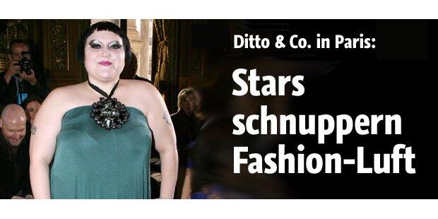 Stars schnuppern Fashion-Luft in Paris