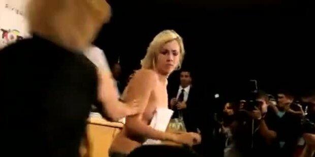 Paris Hilton von nackter Ukrainin beschimpft