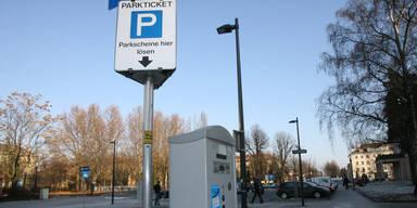 Parkautomaten weg