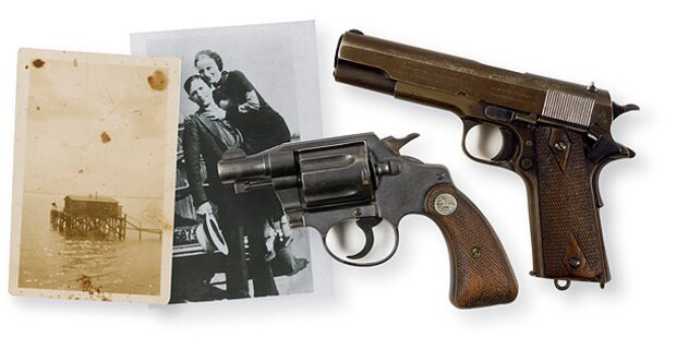 Waffen von Bonnie und Clyde versteigert