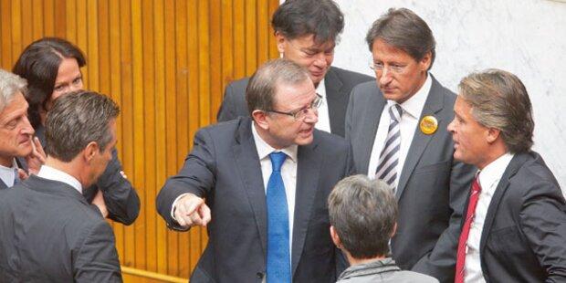 Schreiduell im Parlament