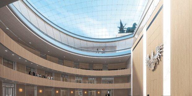 Neues Parlament bekommt Glasdach