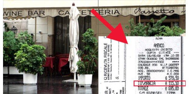 Touristen zahlten 695 Euro fürs Menü