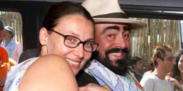 Nicoletta Mantovani und Luciano Pavarotti