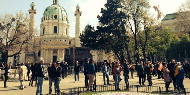 2. Pegida-Demo in Wien floppte