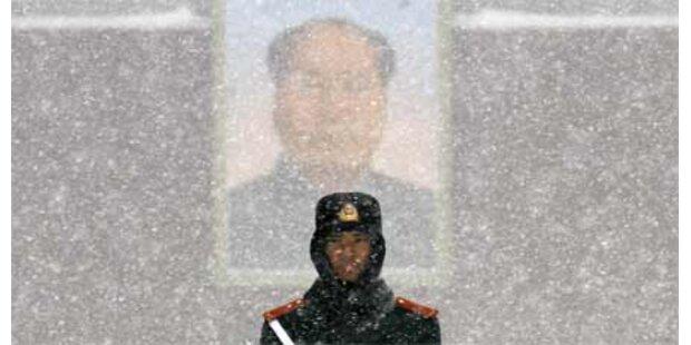 Schnee-Chaos in Peking