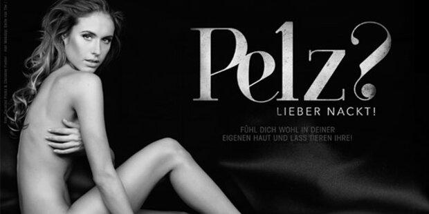 Alena Gerber lässt für PETA die Hüllen fallen