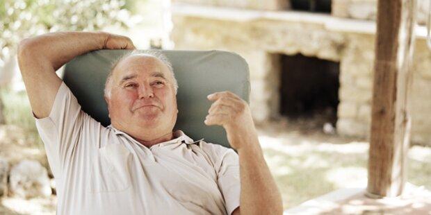 Pensionsantrittsalter steigt nur langsam