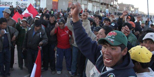 Peru: Regierung machte Mine dicht