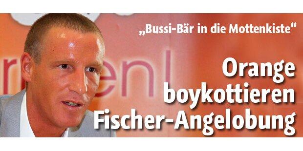 Orange boykottieren Fischer-Angelobung
