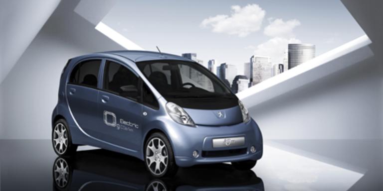 Der Mitsubishi i-MiEV-Zwilling von Peugeot kommt Ende 2010 auf den Markt. Bild: Peugeot