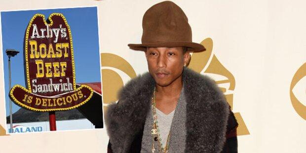 Pharrell: Fastfood-Kette kauft seinen Riesenhut
