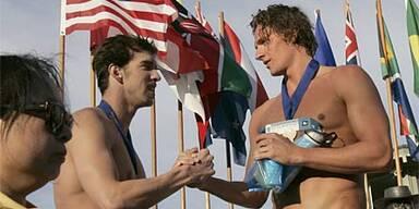 Phelps zwei Mal besiegt