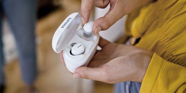 Kabellose Philips-Kopfhörer mit Mega-Laufzeit