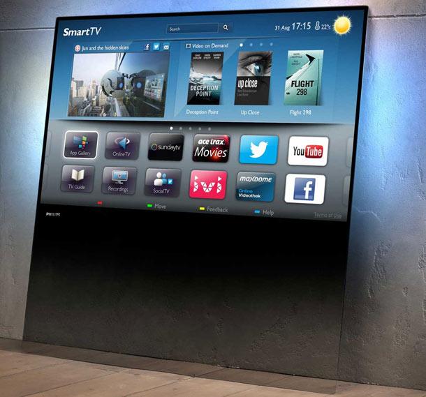 philips fernseher aus glas neue flat tv serie. Black Bedroom Furniture Sets. Home Design Ideas