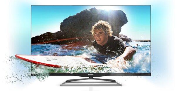 Rahmenlose 3D-Smart TVs von Philips