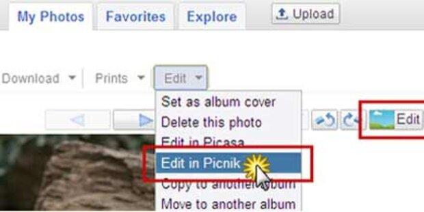 Googles Online-Bildbearbeitung verfügbar