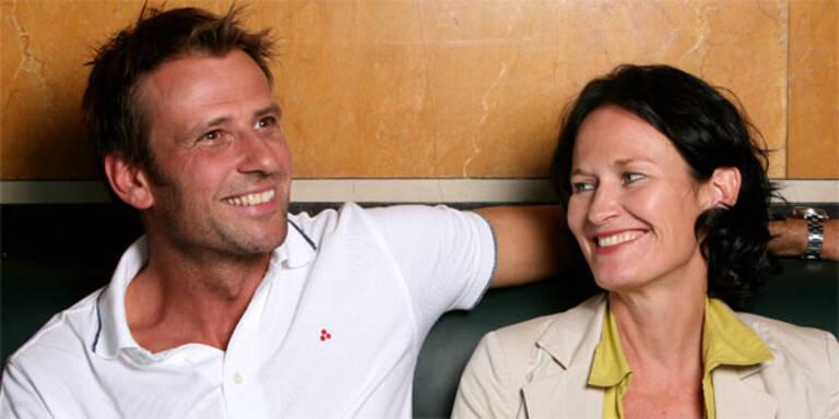 Volker Piesczek mit Ehefrau Eva Glawischnig.