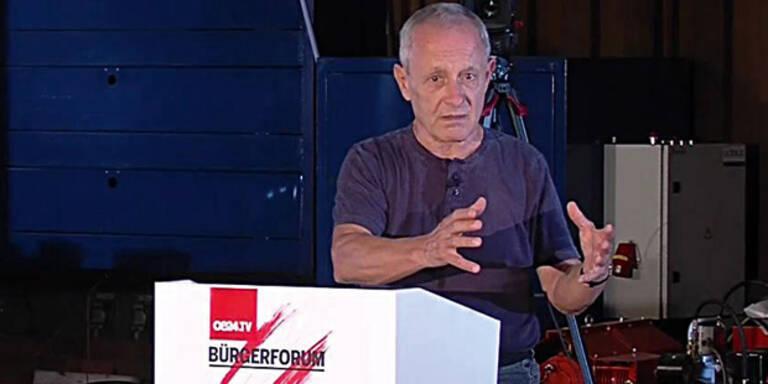 oe24.TV-'Bürgerforum' mit Peter Pilz