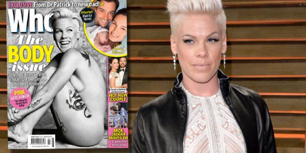 Pink: Völlig nackt auf Magazin-Cover