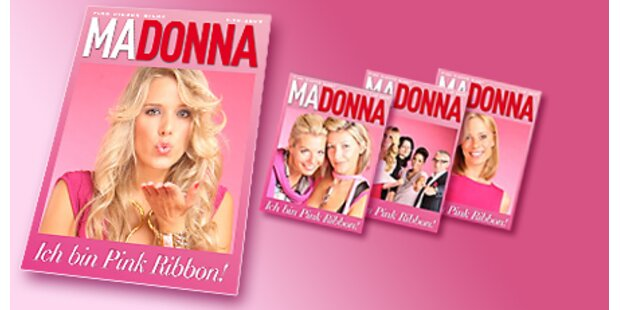 Pink Ribbon-Gäste als MADONNA Cover-Star
