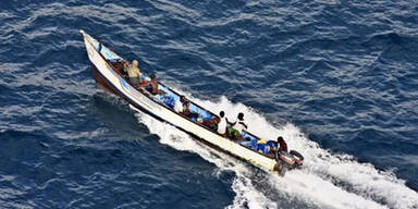 Somalia, Piraten, Boot, Meer