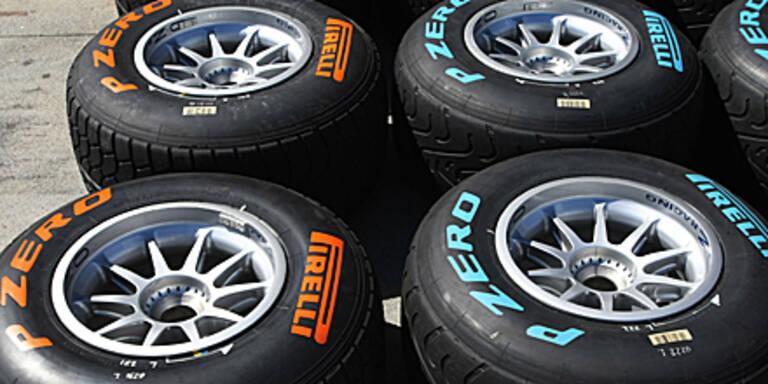 F1-Reifen sind heuer bunt