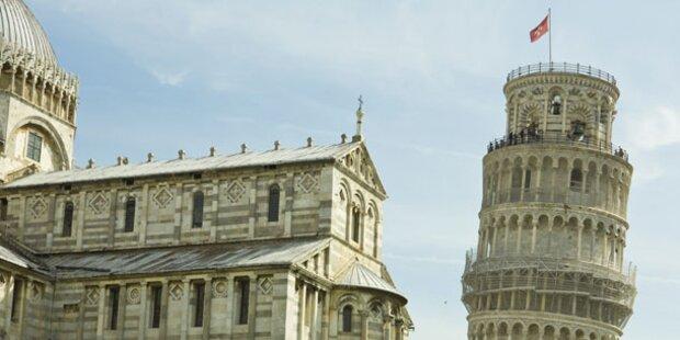 Schiefe Turm von Pisa weniger schief