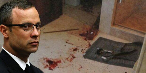Pistorius: Fotos zeigen blutigen Tatort