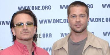 Brad Pitt, Bono