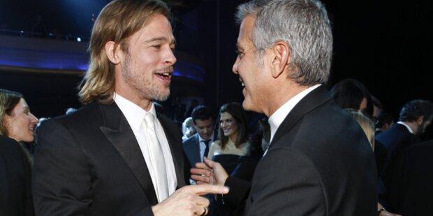Clooney schlägt Kumpel Brad Pitt