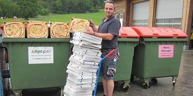Pizza Papiermüll