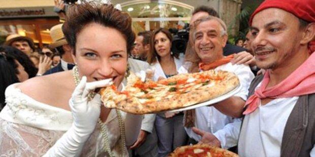 Franzosen essen am häufigsten Pizza
