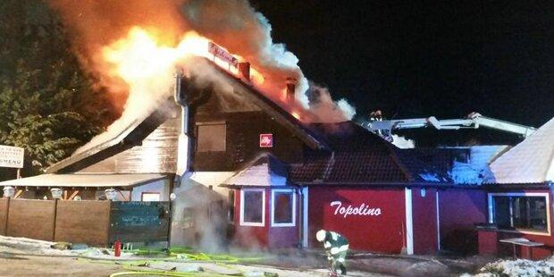 Großbrand in Pizzeria in Hainfeld