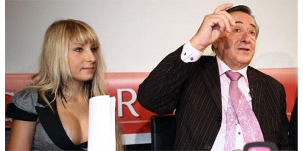 Lugner droht Katzi mit Opernball-Boykott