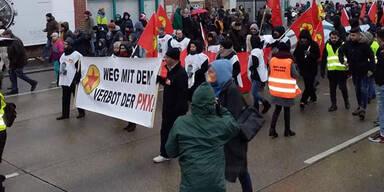 PKK mischte sich unter Demo gegen Türkis-Blau