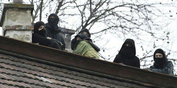Punks besetzten Haus in Wien