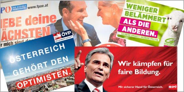 Polit-Plakate im Wahl-Check
