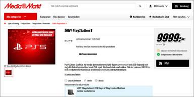 PS5 bei MediaMarkt um fast 1.000 Euro (!) vorbestellbar